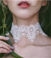 vintage lace choker necklace images Wide lace vintage choker jpg