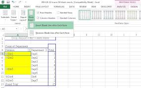 pivot table excel 2016 excel fill blank rows or blank cells in inactive pivot table