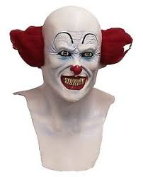 Mask Movie Halloween Costume Evil Scary Clown Pennywise Overhead Latex Mask Horror Movie