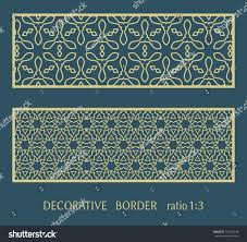 envelope border pattern decorative lace border ornamental panel doodle stock vector