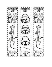 printable halloween coloring bookmarks results christmas