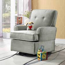 Grey Chair And A Half Design Ideas Fabric Cover Chair Half Rocket Recliner With Tufted Wingsback Plus