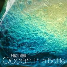 ocean in a bottle with 3 simple ingredients ocean bottle and