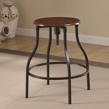 Bar Stool Ideas Counter Height Wood And Metal Bar Stool With Round Adjustable Seat