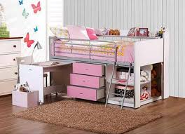 Twin Bunk Bed With Desk And Drawers Kids Loft Bed With Desk Storage Inside Decorating Cool Bunk Beds