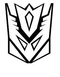 transformer coloring pages decepticon logo coloringstar