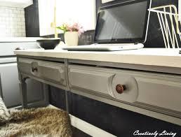 Kitchen Desk Furniture Desk Makeover For Katie U0027s Office Nook By Creatively Living Blog