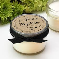 wedding favor candles soy candle favors sweet heart label design