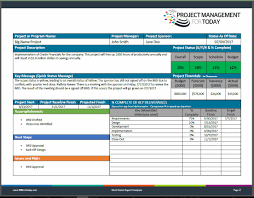 software development status report template project status report template pdf form version demo version