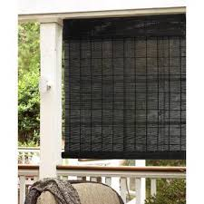 Outdoor Bamboo Shades For Patio by Espresso Natural Bamboo Indoor Outdoor Roll Up Shade Overstock