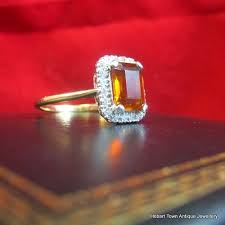 stunning art deco citrine u0026 diamond 18ct gold ring hobart town