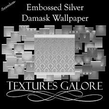 second life marketplace embossed silver damask wallpaper