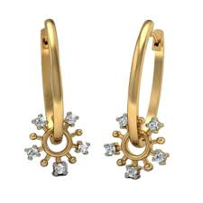 gold earrings with price avsar gold diamond earrings gold earrings homeshop18