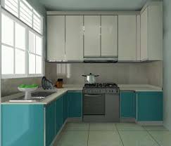 modern kitchen small design ideas with white green cabinet granite