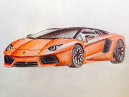 supercar drawing a4 lamborghini car drawing patelmanu7 foundmyself