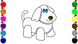colouring videos dog toy drawing for children coloring pages