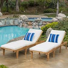 Plans For Wooden Chaise Lounge Amazon Com Set Of 2 Paolo Outdoor Teak Brown Wood Chaise
