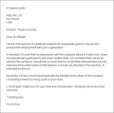sample job interview thank you letter example of thank you letter after interview u2013 aimcoach me