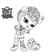 monster high baby coloring pages intended to invigorate to color