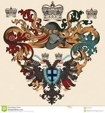 wappen designer heraldisches pegasus wappen kammschild vektor abbildung bild