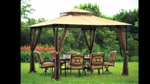Patio Gazebos by Replacement Canopy For Big Lots Bamboo Look Gazebo Youtube