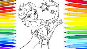 disney princess frozen elsa coloring book fun painting learning