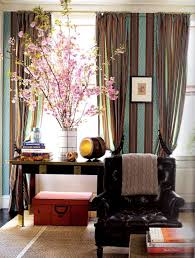 Gold Curtain Rings Breathtaking Drapery Ideas For Living Room Using Striped Fabric