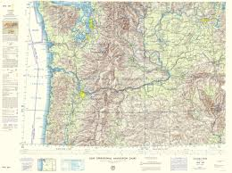 Topographic Map Of Washington by Topographical Map Columbia River Idaho Oregon Washington 1962