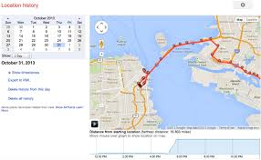 map all s location history browser is a minute by minute map of
