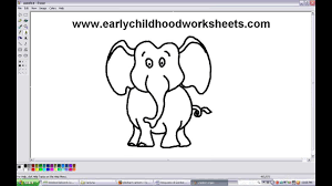 how to draw elephant easy step by step for children and kids youtube