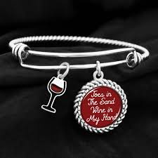 hand charm bracelet images Toes in the sand wine in my hand charm bracelet jpg