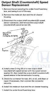 p0720 2009 honda accord output shaft speed sensor circuit fault