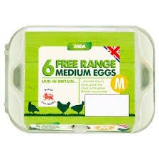 asda 6 medium free range eggs asda groceries