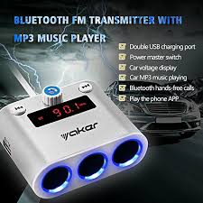 Multi Socket Car Charger With Usb Port Amazon Com Yaker Bluetooth Car Fm Transmitter Car Mp3 Handsfree