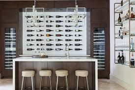 Temperature Controlled Wine Cellar - contemporary wine cellar with wall wine bottle display units