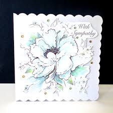 white flower and doves sympathy card decorque cards