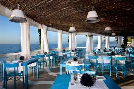 restaurant decorations dining room cool restaurant with blue chairs and tables also sea