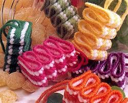 ribbon ornaments in plastic canvas epattern leisurearts