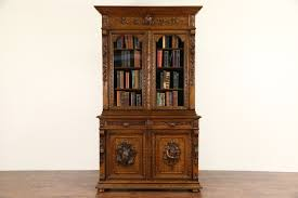 bookcases library cabinet harp gallery antique furniture