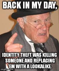 Theft Meme - back in my day meme imgflip
