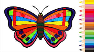 coloring butterflies coloring book videos for children learn