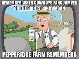Cowboys Saints Meme - remember when cowboys fans jumped on the saints bandwagon