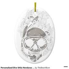 yellow scuba fins personalized christmas ornament christmas