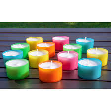 6 hour tea lights stonebriar collection multicolor tea light candles 6 to 7 hour