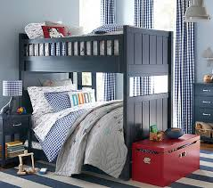 Camp TwinoverTwin Bunk Bed Pottery Barn Kids - Navy bunk beds