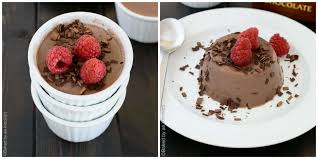 chocolate almond milk panna cotta baked by an introvert
