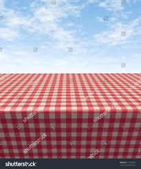 checkered tablecloth table blank empty picnic stock illustration