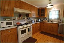 Unfinished Pine Cabinet Doors Rustic Kitchen Ravishing L Shape Kitchen Remodel Features