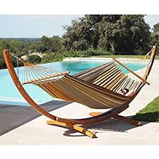 amazon com best choiceproducts wooden curved arc hammock stand