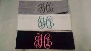 monogram headband custom monogram headband initial headbands for